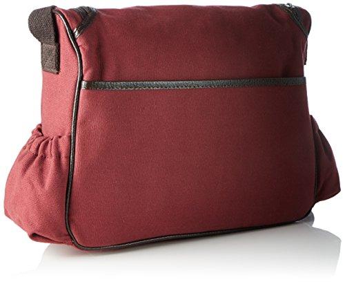 Bags4Less Damen Wickeltasche Umhängetasche, 30x34x44 cm Rot (Canvas-Weinrot)