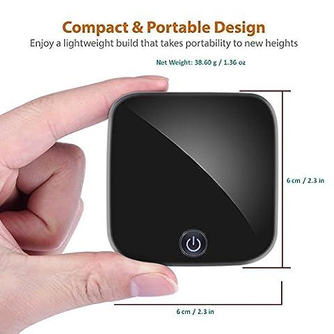 IDC © i10 Bluetooth 4.1 Audio émetteur / récepteur numérique optique Toslink/RCA et 3,5 mm Audio sans fil adaptateur quel soutien aptX LL pour haut-parleur Bluetooth TV / Dock / système / ampli Hifi