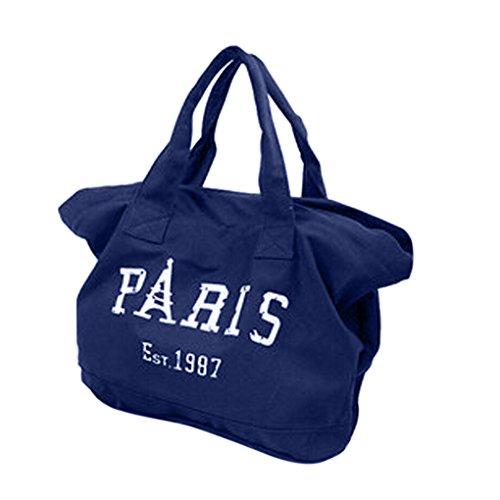 Sac à Main Toile Sac Paris pour Femme Sac de Plage Cabas Oversize Sacs à bandouliere Sacs épaule pour Faire Courses Sacs portés Main