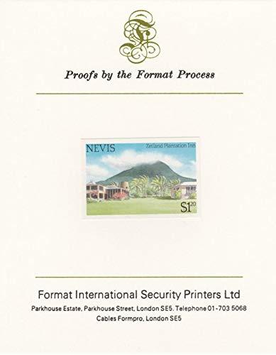 Nevis 1985 Tourism (2nd series) $1.20 (Zetland Plantation Inn) imperf proof mounted on Format International proof card as SG 248 TOURISM JandRStamps - Plantation Inn