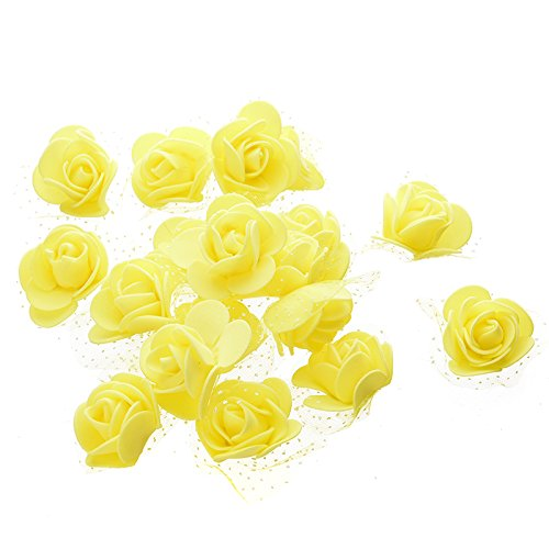 Doolland Künstliche Rosen w/Net Real suchen Gefälschte Blume für DIY Hochzeit Bouquets Mittelstücke Arrangements Party Baby Dusche Dekoration (Baby-dusche Ein Mittelstücke Für)