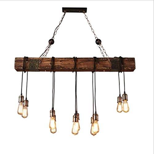 WENYAO Moderner industrieller geometrischer Leuchter industrielle hängende Beleuchtung-Weinlese-Deckenleuchte-Befestigung 4 Licht für Pool-Tabellen-Bauernhaus-Küchen-Insel-Stab-Retro- hängende Lamp -