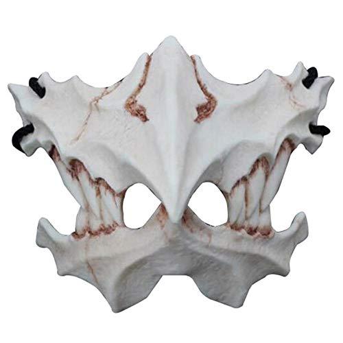 SHIYAREN Halloween-MaskeAnime Maske _ と と Tiger Maske Zwei Yuan Anime Maske Dragon God Ten Dogs Nightshade 鵺 Horror @ - Dino Dog Kostüm