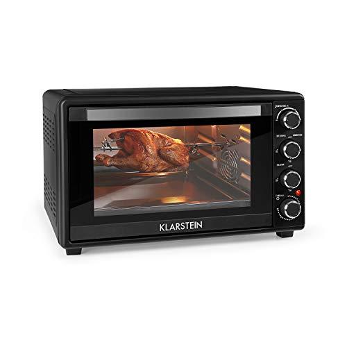 KLARSTEIN Masterchef 45 Mini Horno - 45 litros, 2000 W, temperatura: 100-230 °C, asador giratorio...