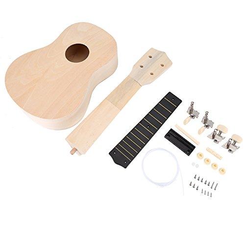 Ukulele DIY Kit, 21 Zoll Machen Sie Ihre Eigene Ukulele Hawaii Ukulele Kit mit Installationswerkzeug Kids Musical Toy