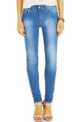 bestyledberlin Damen High Waisted Jeans, Basic SkinnyJeans, Stretch Röhrenjeans j29g 40/L