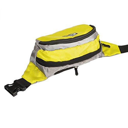 [Sport Hüfttasche] OverDose Läuft Teufel Tasche Travel praktisch Wandern Sport Gürteltasche Taille Gürteltasche Zip C-Gelb