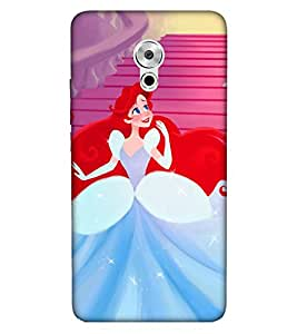 Takkloo cute girl cartoon red hair,whitte gown, cute eyed girl, cute princess) Printed Designer Back Case Cover for Meizu Pro 6 Plus