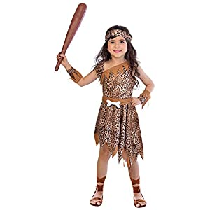amscan- Cave Girl 10-12 Years Disfraz, Color (9904490)
