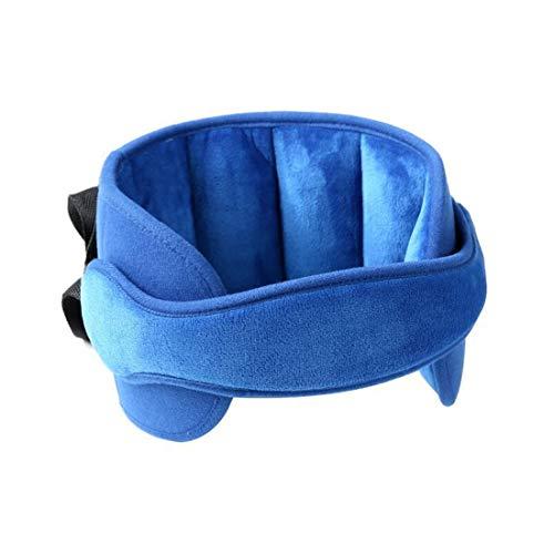 Calemei Kindersitz Kopfband, Autositz Kopfband-Verstellbarer Komfortable Safe Sleep Lösung (blau)