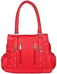 Vishesh Collections Women's Solid Red Handbag
