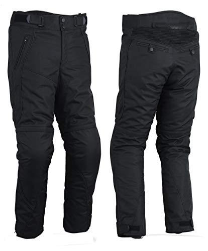 WinNet Pantaloni da moto in cordura con protezioni ginocchia e fianchi resistenti all'acqu