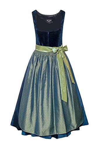 Melega Damen Midi Dirndl Saphira blau/grün D010341 38