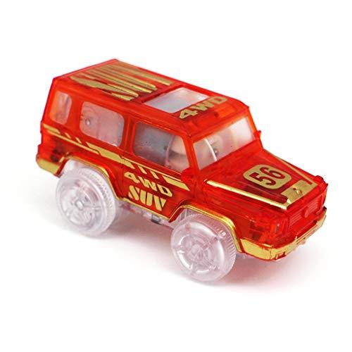 Dabixx Auto Spielzeug, Kinder Spielzeug Eisenbahn Gleis Auto Elektronische Batterie LED Licht Geschenk für Kinder Weihnachten Geburtstag - C # (Elektronische Gleise)