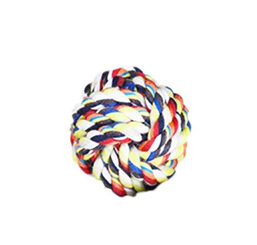 Da.Wa 1pc Juguetes para Mascotas Juguetes de Pelota Cuerda de Algodón Balón de MultiColor de Diámetro 6cm
