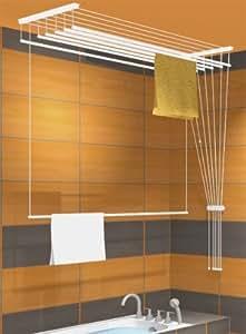 stendino sospeso a soffitto airavie 180cm con 5 aste casa e cucina. Black Bedroom Furniture Sets. Home Design Ideas