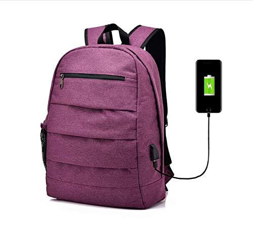Laptop-Rucksack USB-Ladeloch mit Einem Seitennetz Kann Wasserkocher Computer Wasserdicht Geschäftsreise Freizeit Umhängetasche Setzen. Violett