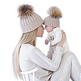 2pcs-parent-child-baby-mutter-strickmutze-warmer-familie-hakelarbeithut-wollmutze-beanie-ski-hutemut