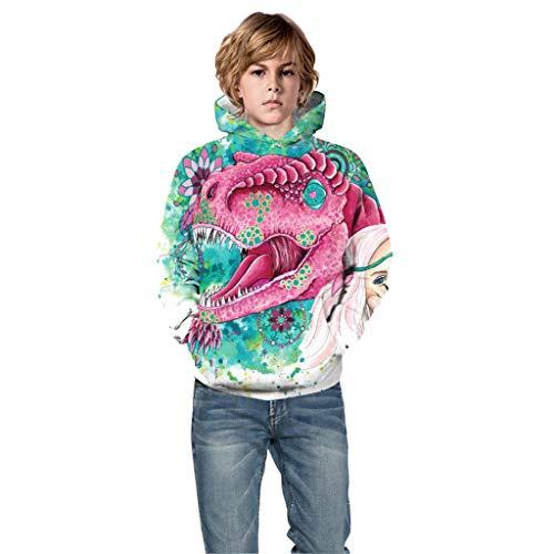 Girl Idee Kostüm Jersey - Hunpta@ Jahre Teen Kids Hoodie, Teen Kids Boy & Girl Halloween 3D Digitaldruck Pullover Hoodie Kapuzenpulli für Weihnachten Party Kids Geschenk