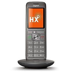 Gigaset CL660HX Universal-Mobilteil - Schnurloses IP-/Design Telefon (zum Anschluss an Basisstationen oder Router - mit großem Display und brillanter Sprachqualität) anthrazit-metallic