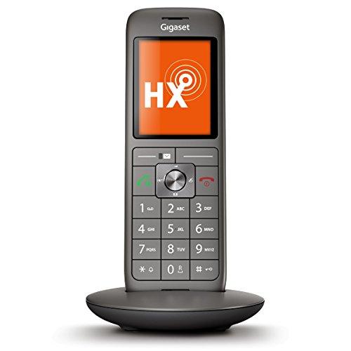 Gigaset CL660HX schnurloses Telefon (IP-Telefon Fritzbox kompatibel, VOIP DECT-Telefon, Universal-Mobilteil mit TFT-Farbdisplay, große Tasten) anthrazit-metallic - Mit Telefon Kopfhöreranschluss
