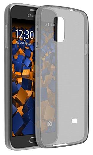 mumbi UltraSlim Hülle für Samsung Galaxy S5 / S5 Neo Schutzhülle transparent schwarz (Ultra Slim - 0.55 mm)