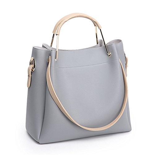 Meoaeo 2017 Nuovo Sacchetto Crossbody Bag Sacca Sono Semplici Marrone gray