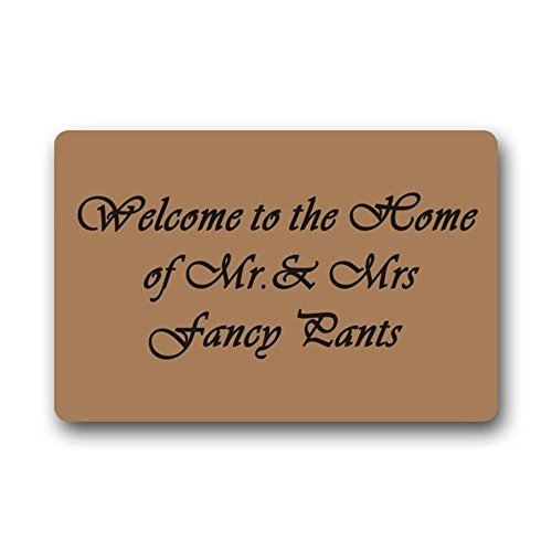 Design and Welcome to The Home of Mr and Mrs Fancy Pants Washable Doormat - Fancy Pants Designs