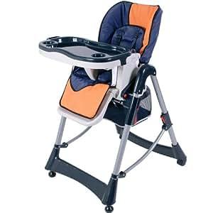 Infantastic - Chaise Haute pour Bébés/Enfants de 6 Mois à 5 Ans (max. 25 Kg) Réglable sur 5 Positions