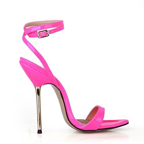 Zeigen und Veranstaltungsräume Nachtleben aus Eisen mit feinen mit der high-heel Schuhe Frauen Sandalen, Neon Pink Pearl