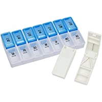 Tablettenbox Pillenbox Medikamentenbox 7-Tage, 2 Fächer pro Tag plus Tabletten-Spalter preisvergleich bei billige-tabletten.eu