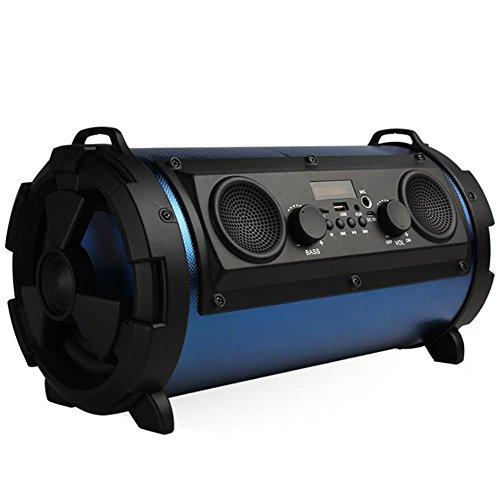 Preisvergleich Produktbild Kabelloser Bluetooth-Lautsprecher,  Tragbarer Stereo-Außenlautsprecher Mit High-Definition-Audio Und Verbessertem Bass,  Eingebauter Dual-Drive-Lautsprecher,  Freisprechfunktion,  TF-Kartensteckplatz,  15 W-Subwoofer, Blue