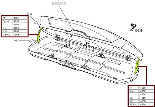 Thule Ersatzteil LidLifter Kit ML 100-14956