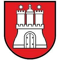 Autoaufkleber Sticker Hamburg Schild Kontur Fahne Aufkleber
