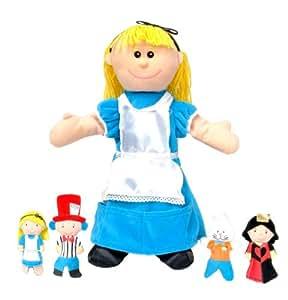 Alice au pays des merveilles avec Marionnette marionnettes de doigts