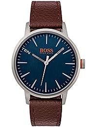 3a771bc1d6fb Hugo Boss Orange Homme Analogique Classique Quartz Montres bracelet avec  bracelet en Cuir - 1550057