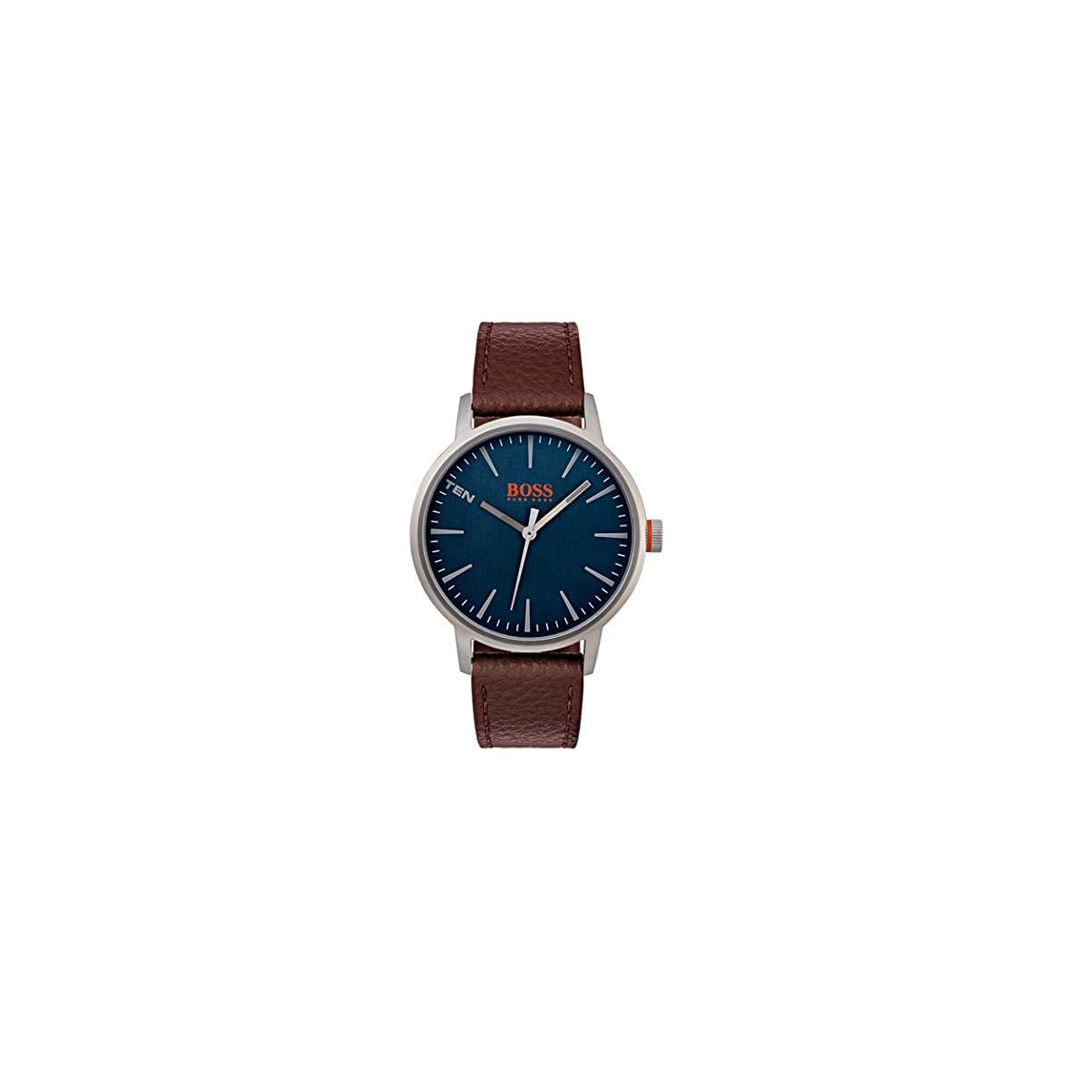 41sPgrlQKAL. SS1200  - Hugo Boss Orange Reloj Análogo clásico para Hombre de Cuarzo con Correa en Cuero 1550057