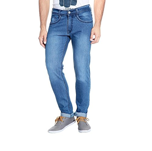 Urbano Fashion Light Blue Slim Fit Stretch Jeans for Men