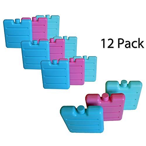 all-around24 Kleine Kühlakkus für die Brotdose Lunchbox Mini Kühlelemente für Kühltasche Kühl-Akku (12 Stück)