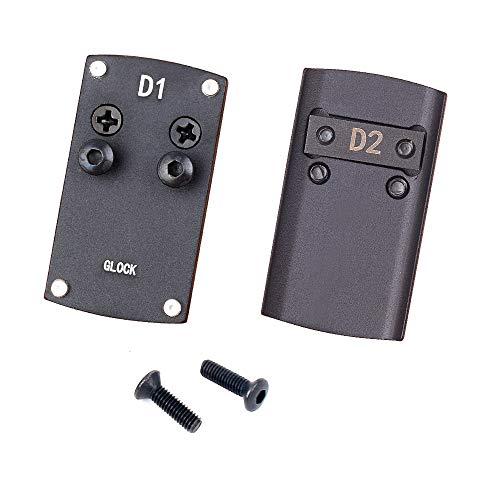 DETECH Optik Beretta 92 Glock 17 19 22 1911 Adapterplatte für Pistolenreflexvisierhalter für Burris Vortex Micro Red Dot Scope