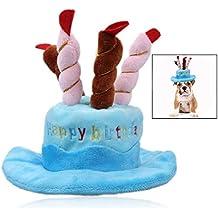 Xrten Sombrero de cumpleaños para Mascotas Perros para Fiesta de cumpleaños Halloween ...