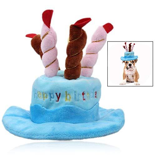 tstag Hut,Kuchen und Kerzen Design Hut für Hunde und Katzen,Party Dekoration Hut ()