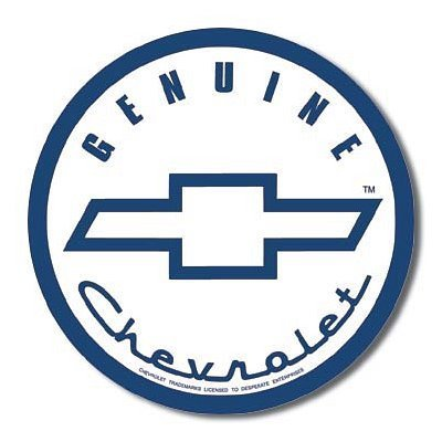 Genuine Chevy Chevrolet Round Tin Sign by Poster Revolution