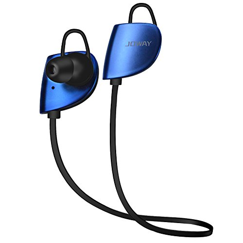 Meilunz MS07 Sport Bluetooth Ohrhörer Kopfhörer Headphone Headset apt-X CSR v 4.1 In Ear mit Mikrofon für iPhone 6 6S 6 Plus 6S Plus 5S 5 5C 4S 4, Samsung Galaxy S6 S6 Edge S5 S4 Mini (Blau)