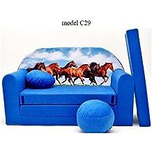 Sofa Niño 2plazas se transforma en un sofá-cama