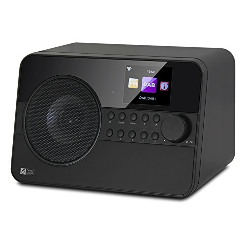 Ocean Digital WR238CD Radio de Internet DAB / DAB + con Bluetooth / FM 2.4 'Pantalla LCD en color - Negro