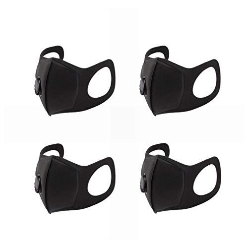 BZLine Home Schutzmaske | Feinstaubmaske | Maske für Atemmaske | Premium Atemschutzmaske | Mundschutz Maske | Staubschutzmaske | Grippe Staubmaske | Waschbare Radfahren Mund Gesichtsmaske (4 Stück)