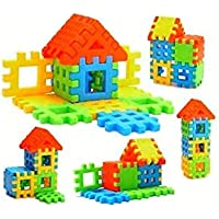LB Sales House Building Small Blocks Early Learning Educational Toy for Kids Gift- Multi Color Toy for Kids (Building…