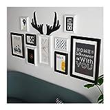 Unbekannt [Loves] pcs Schwarz Bilderrahmen Set 9 Multi-Bilderrahmen Collage, Bildhalter Holzrahmen Wand-Set Sofa Hintergrund Bilderrahmen Kombination 122 * 62cm (Farbe : SCHWARZ)