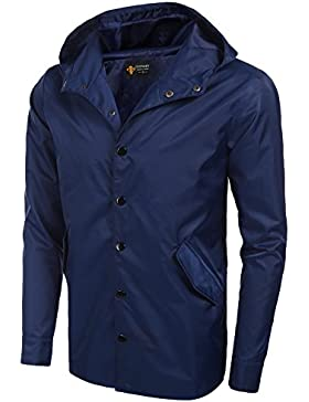 Coofandy - Chaqueta impermeable - para hombre